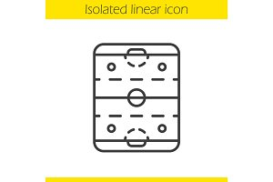 Ice hockey rink linear icon
