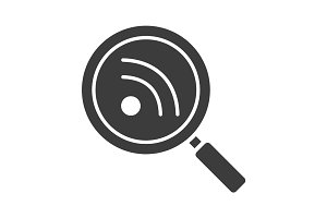 Rss feed search glyph icon