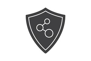 Network connection security glyph icon