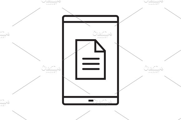 Smartphone document linear icon