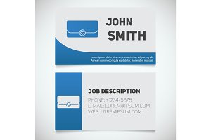 Business card print template with clutch logo