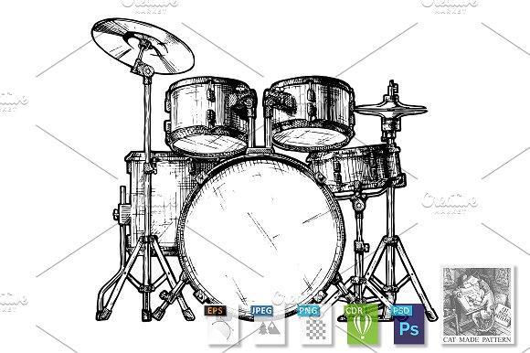 Illustration Of Drum Kit