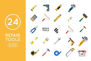 Repair and construction tool icons