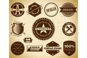 Vintage labels. Collection 20