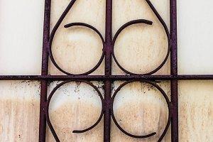 Iron Vintage Window Detail
