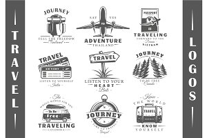 9 Travel Logos Templates Vol.1