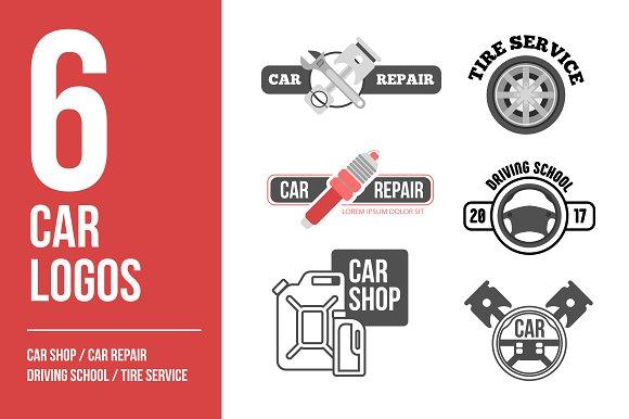 car logo vector set car service logo templates creative market