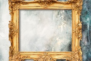 Golden frame grungy background