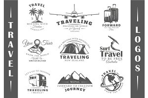 9 Travel Logos Templates Vol.2