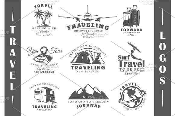 9 Travel Logos Templates Vol.2