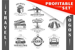 18 Travel Logos Templates