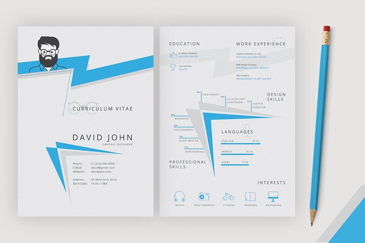 Designer Resume Template Resume Templates Creative Market