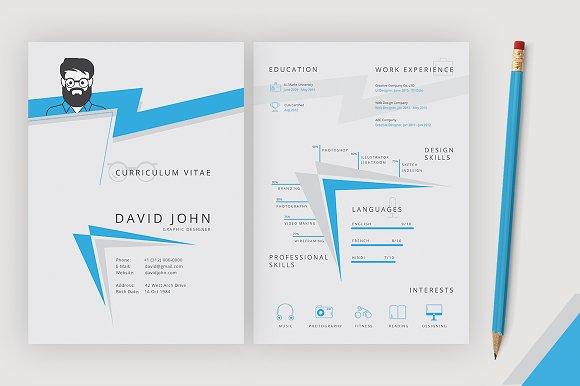 Designer Resume Template Templates Creative Market