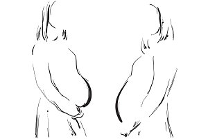Pregnant woman. Pregnancy
