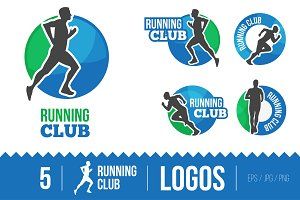 Marathon or Running club vector logo