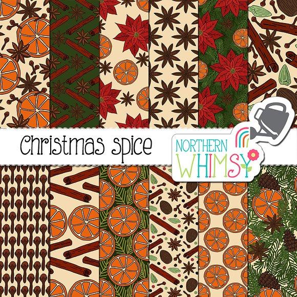 Christmas Spice Seamless Patterns