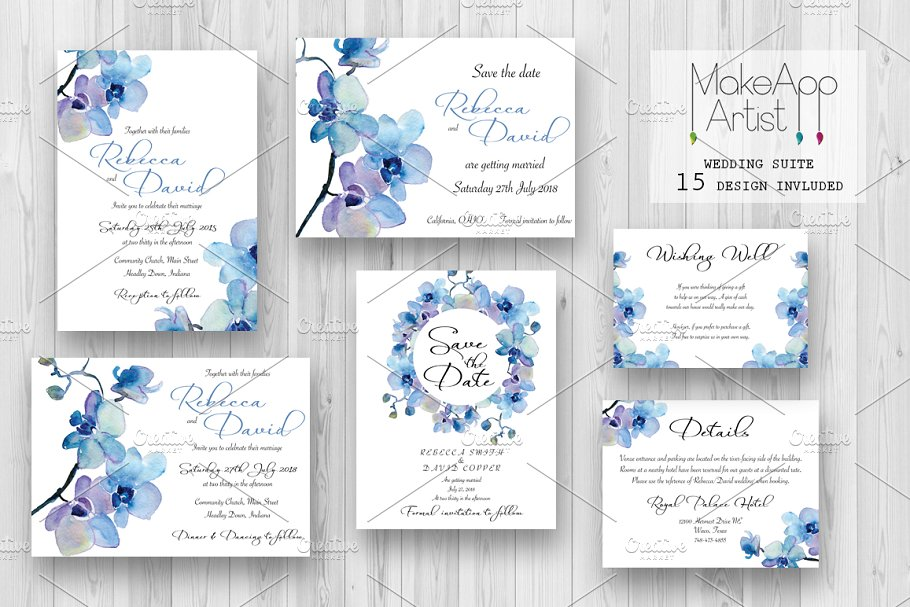 Wedding Invitation Suite - Rebecca in Wedding Templates - product preview 8
