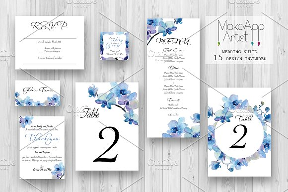Wedding Invitation Suite - Rebecca in Wedding Templates - product preview 1