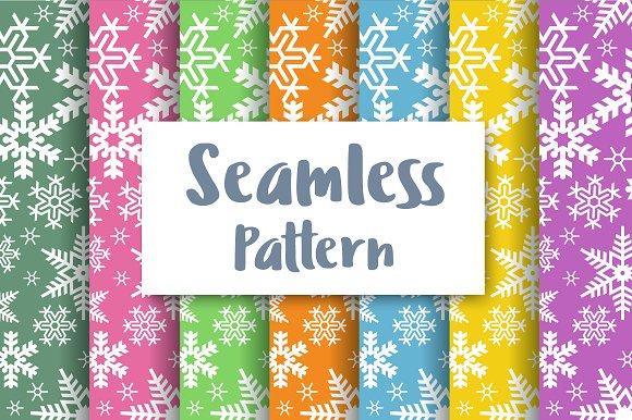 Seamless Christmas Snowflakes