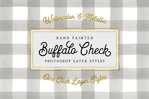 Buffalo Check Photoshop Layer Styles