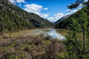 Mountain Lake in Spring