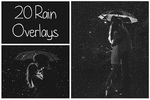 20 Rain Overlays