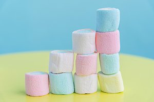stack of vanilla marshmallow