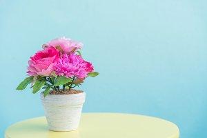 artificial flower pot