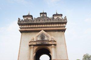 Victory Gate in Vientiane, Laos