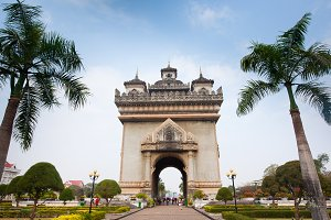 Victory Gate in Vientiane, Laos