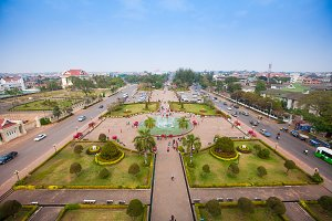 View of Vientiane from Victory Gate