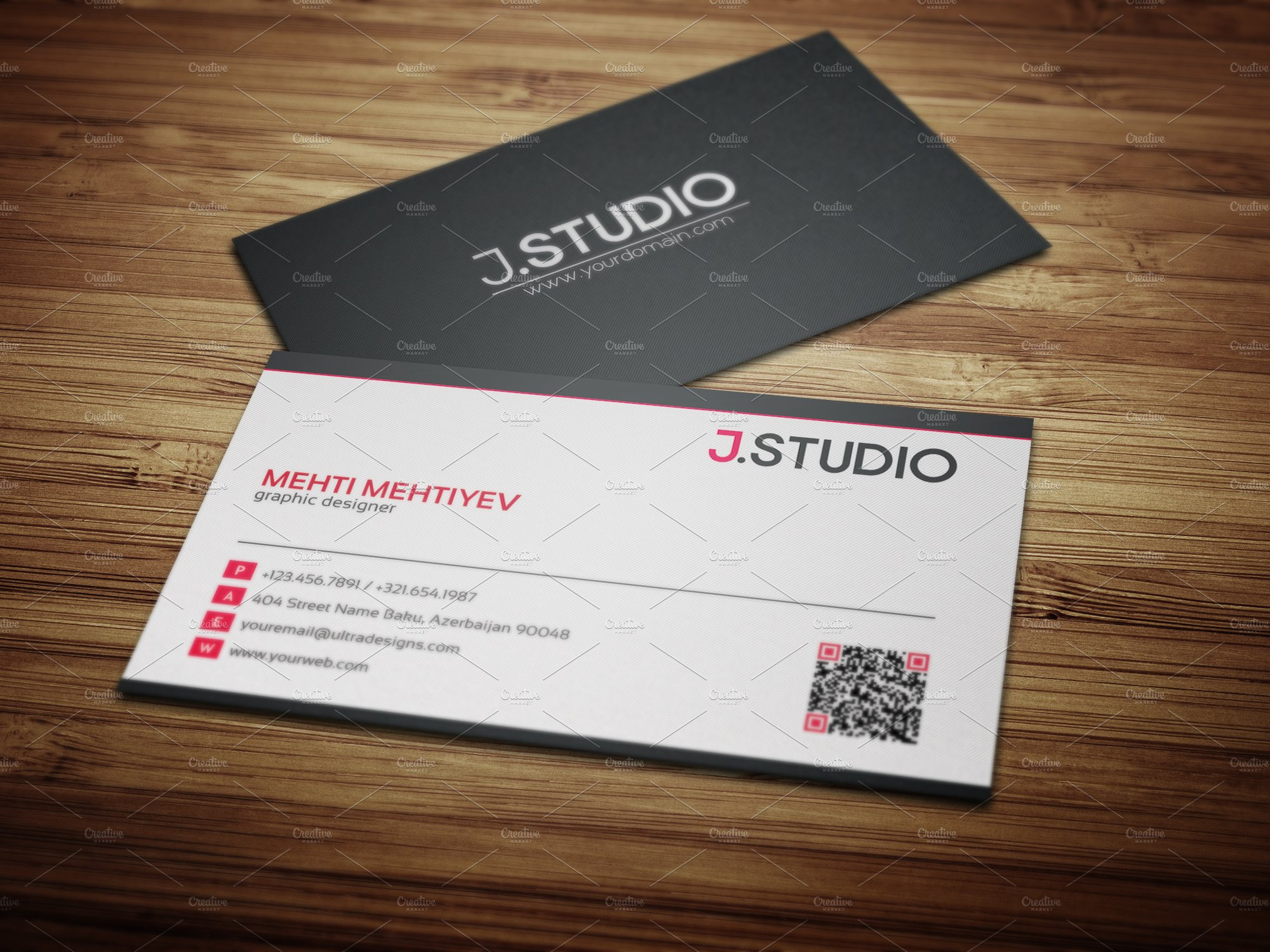 Colorful business card creation gallery business card ideas clean qr code business card 1 business card templates creative reheart Choice Image