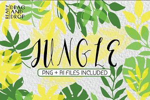 JUNGLE - tropical leaves