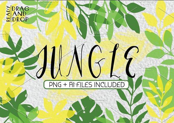 JUNGLE Tropical Leaves