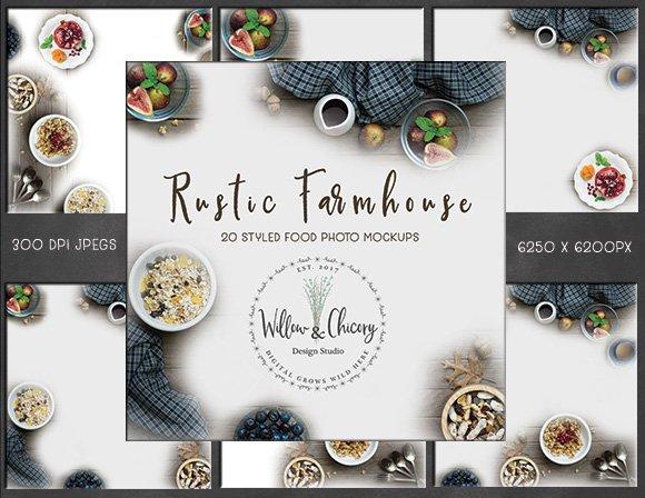 Rustic Farmhouse Styled Food Photos