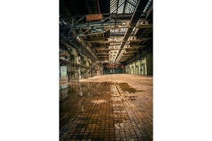 An abandoned industrial interior