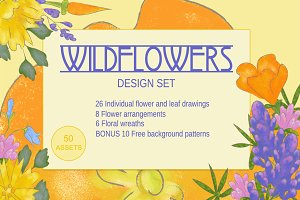Wildflowers Graphic Design Set