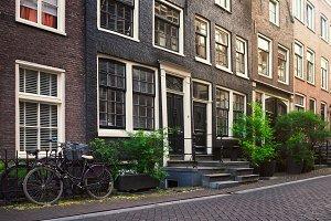 Vintage Amsterdam city street