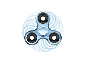 Fidget spinner icon isolated on white background. Realistic vector style.