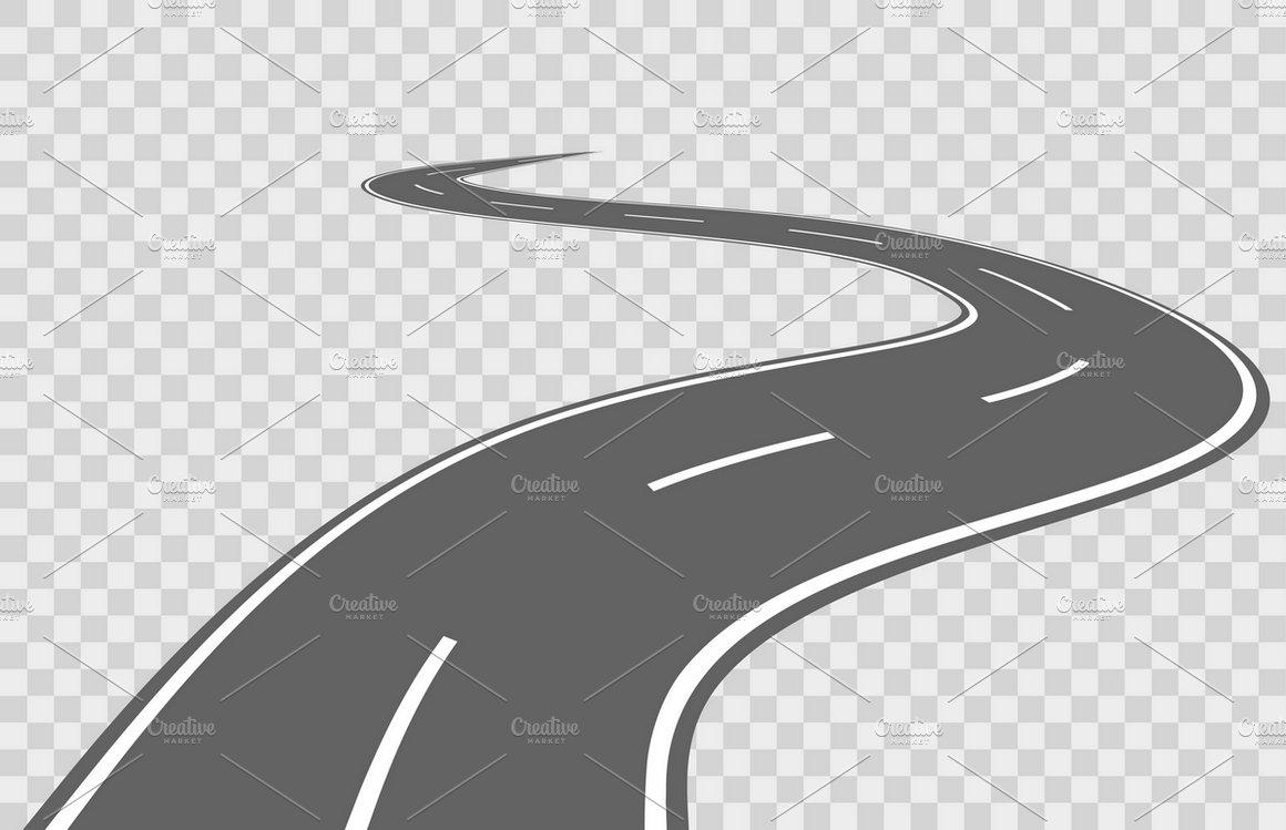 Abstract winding vector road ~ Illustrations ~ Creative Market