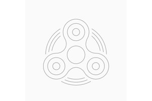 Fidget spinner thin line vector icon.