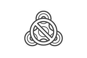 Stop fidget spinner line vector icon.
