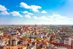 Panorama of Wroclaw city