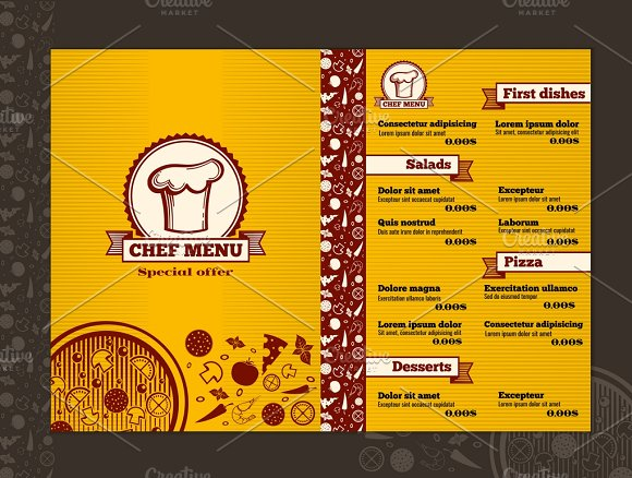 Restaurant Menu Design Mockup