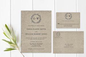 Kraft Paper Wedding Suite