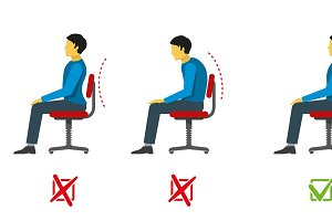 Correct and bad sitting position