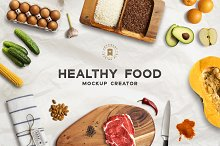 Healthy Food Mockup Creator