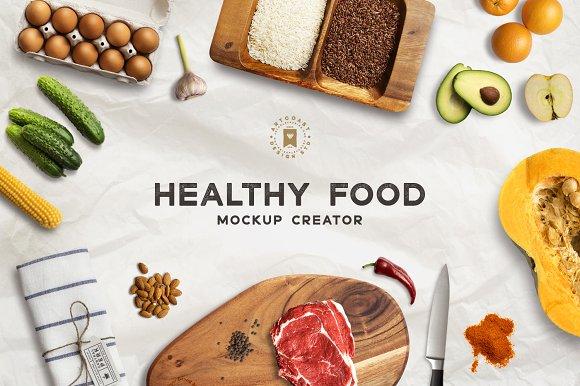 Free Healthy Food Mockup Creator