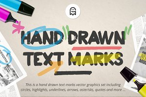 Hand Drawn Text Marks