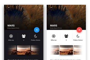 Light & Dark mobile UI